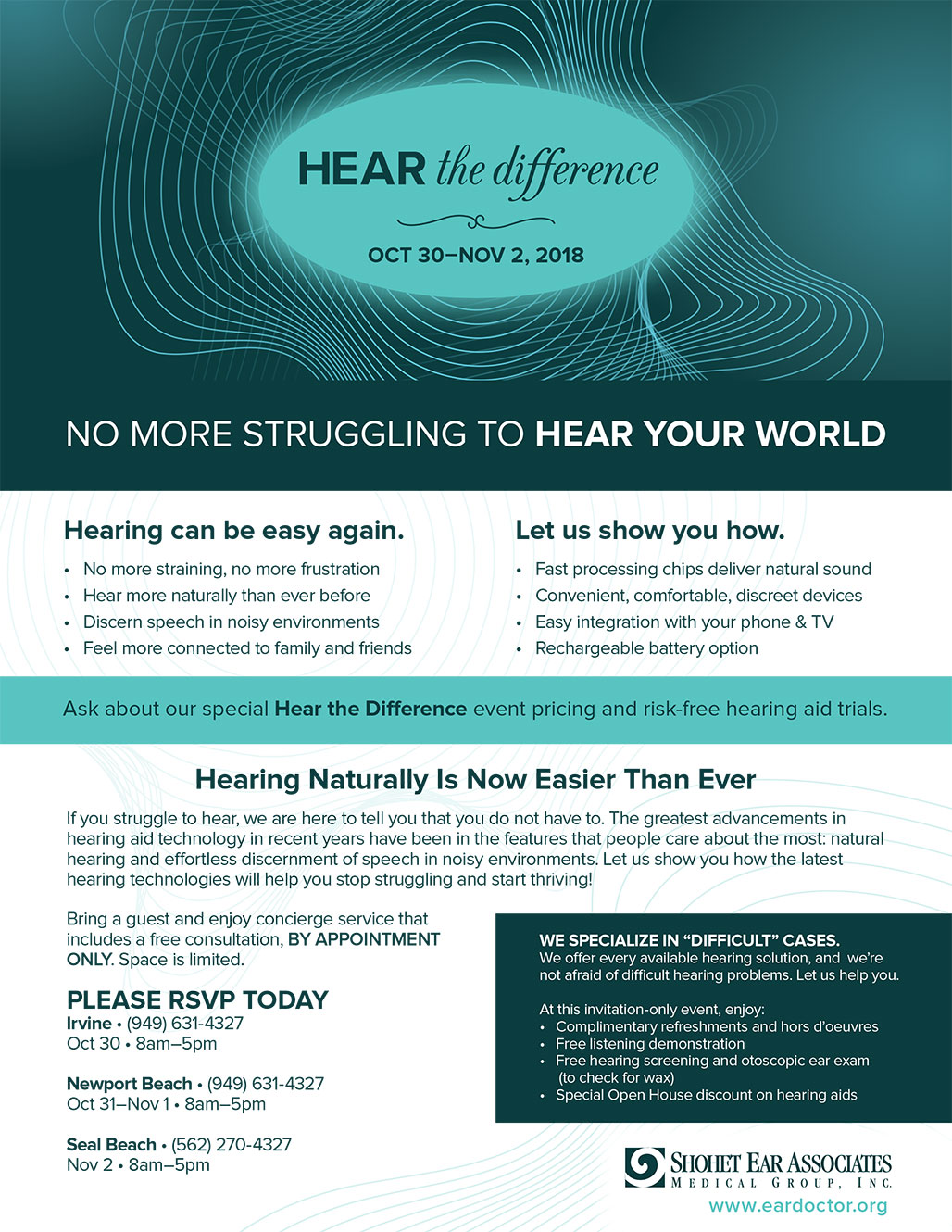 SEA Hearing Event 2018