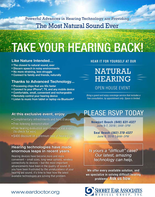 SEA Hearing Event June 6-8, 2018